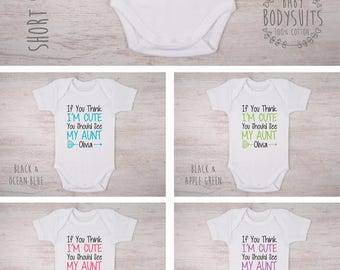Cute baby clothes etsy aunt to be baby gift if you think im cute you should negle Images