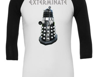 Dalek Raglan / Doctor Who Shirt / Doctor Who