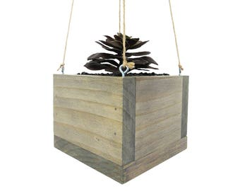 Hanging Planter, Mini Planter, Succulent Planter, Wood Planter, Modern Planter, Succulent Pot, Indoor Planter, Hanging Pot, Gift for Mom