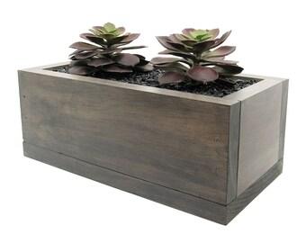 Indoor Planter, Planter Box, Mini Planter, Succulent Planter, Wood Planter,  Modern