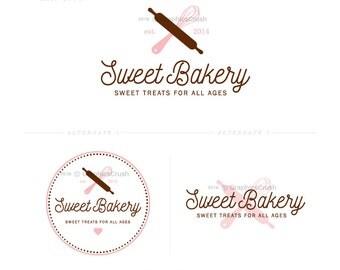 Bakery Logo Design Sweet Logo Whisk Logo Blog Branding Logo Cooking Blog Logo