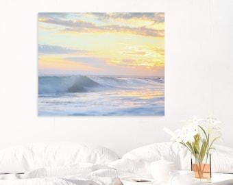 Beach Print, Sunset, Ocean Photography, Sunset Photography, Wave Art, Orange County Sunset, Wall Art, Wall Decor