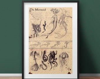 Large - Mermaid - Mythology Art Print
