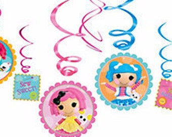 Lalaloopsy Hanging Swirl Decorations 12ct