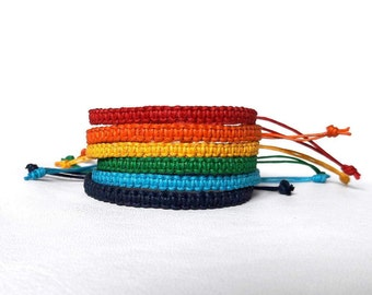 Rainbow bracelet Colorful bracelet custom color bracelet macrame bracelet Surfer Bracelet Multicolored Bracelet