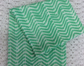 Green Double Gauze Swaddling Blanket