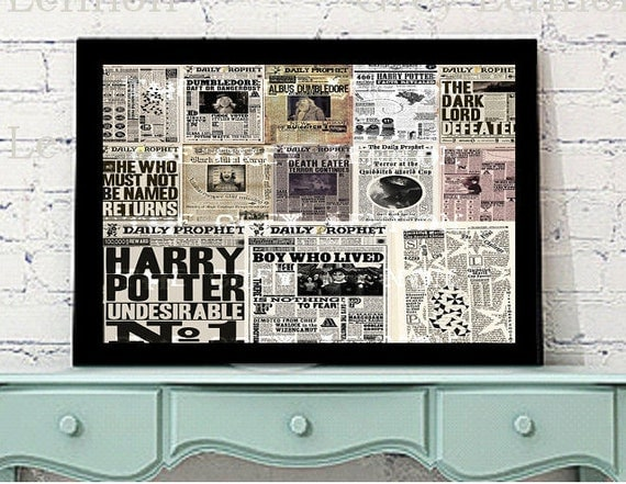 Harry Potter Fan Daily Prophet Clippings Photoshop Brushes Set (Easier than Overlays!) Instant Download for Digital and Paper Crafts