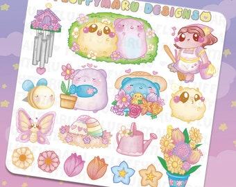 Springtime with Sprinkles Deco Sticker Set || Planner Stickers, Cute Stickers for Erin Condren (ECLP), Filofax, Kikki K, Etc. || DS31