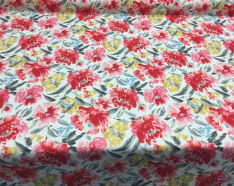 Waverly Spring Forth Bloom Floral Red Fabric By The Yard Multipurpose