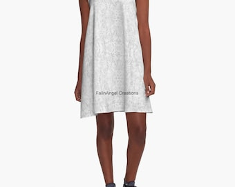 White Lace A-Line Dress, 6 Sizes Available!