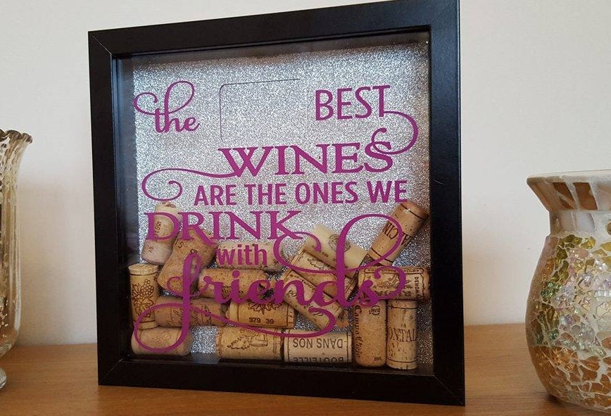 wine cork memory box shadow frame cork drop box personalised free