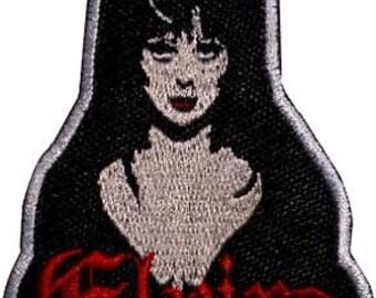 Elvira Patch Embroidered Iron on Badge Horror Movie Mistress of the Dark Cassandra Peterson Souvenir Applique Motif DIY Costume