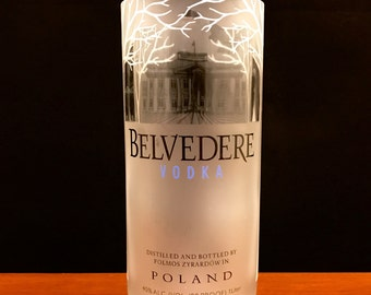 Belvedere Vodka bottle candle