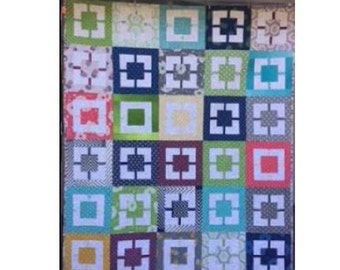 Building Blocks Throw Quilt Pattern