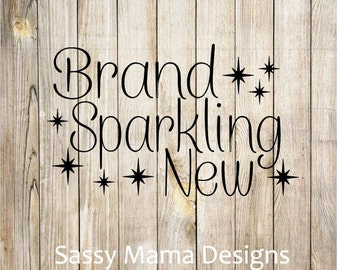 Brand Sparkling New SVG PNG GSP design, instant download