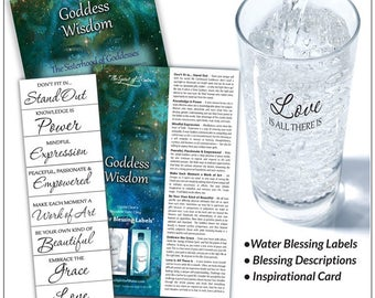 Goddess Wisdom Water Blessing Labels
