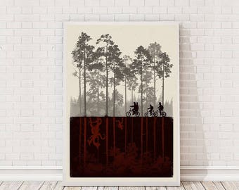 Stranger Things Poster Art Film TV Poster Classic Movie Poster