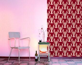 Lobster wallpaper. Red