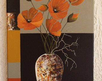 "Painting ""Winter garden"" acrylic"