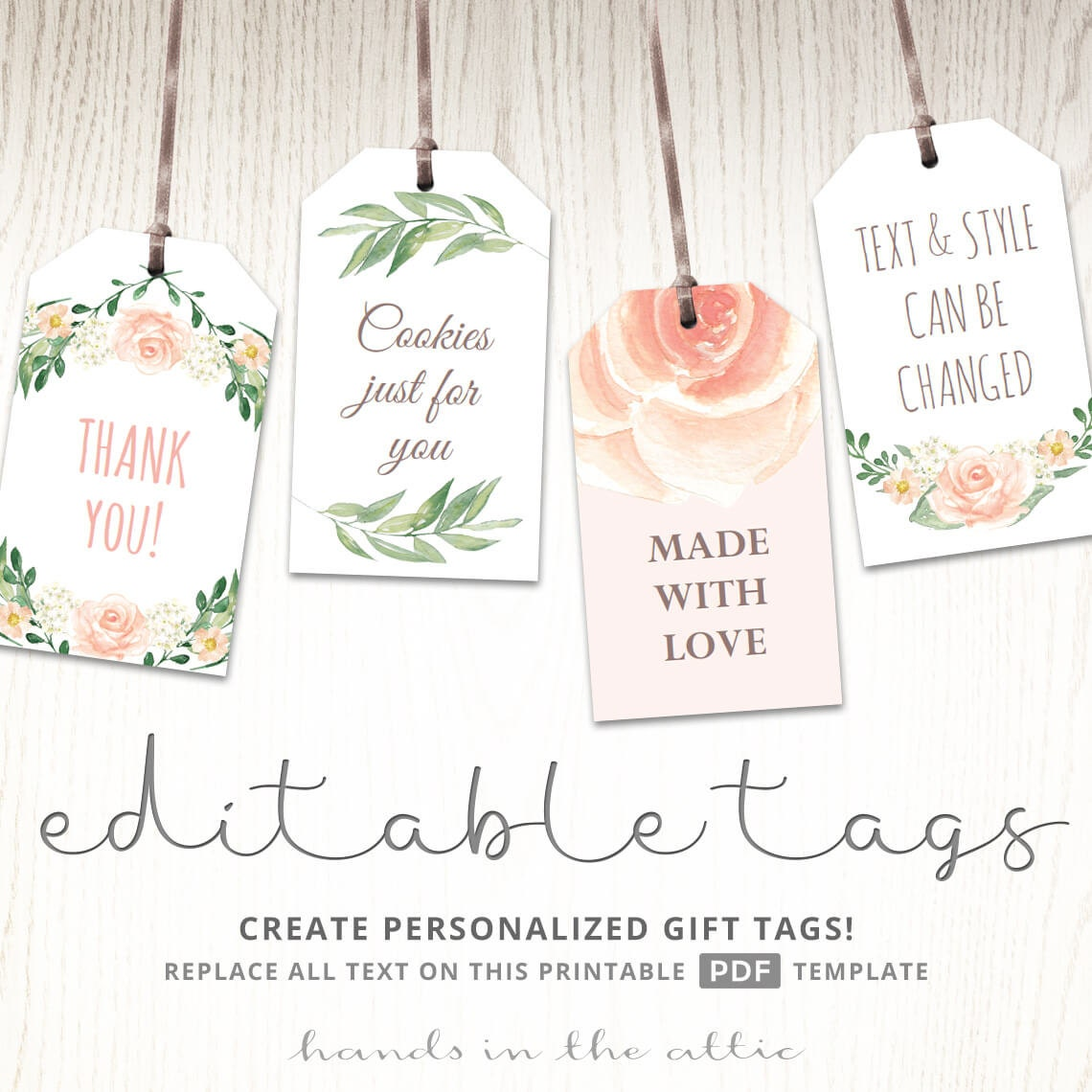 Dynamic image throughout baby shower tags printable