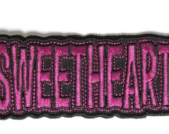 Sweetheart Iron On Patch - 3.5x1.25 inch Free Shipping P4024