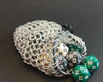 Chain Maille Dice Bag