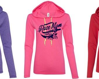 Race Mom long sleeve tee/Quarter midgets racing hoodie/Quarter midgets