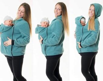 Babywearing  Jacket for Mom and Baby fleece Jacket Teddy