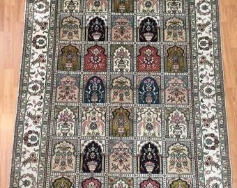 4' x 6' Persian Qum (Qom) Oriental Rug - Very Fine - Hand Made - 100% Silk