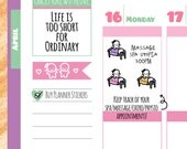 Munchkins - Spa, Massage, Chiro, or Physio Appointment Planner Stickers (M227)