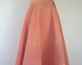 Candy Pink 50s circle quilted skirt