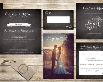 Invitation wedding - model slate