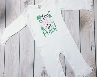 My First St Patricks Day, Baby Girl St Pattys Day, 1st St Patrick's Day, Baby St Patrick's Outfit, Pinch Proof, Pot of Gold, St Patty Shirt,