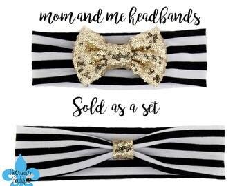 matching headbands, mommy and me headbands,mom and me, mommy and me set, mom and daughter, toddler headband