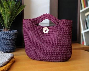 Plum Crocheted ToTe Bag