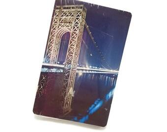 Vintage George Washington Bridge Playing Cards- Sealed Deck- NYC New York City Landmark- Manhattan Island Hudson River- Mixed Media ATC