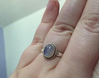 Moonstone  Ring, Rainbow Stone Ring, Silver Ring, Solid Sterling Silver Ring, Sterling Silver Ring,size 3 4 5 6 7 8 9 10 11 12 13