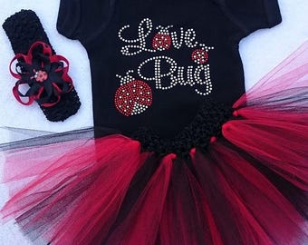 LOVE BUG - 4 Piece Tutu Set