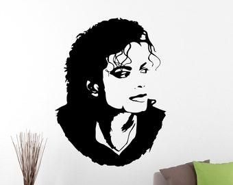 Michael Jackson Wall Sticker Decal Home Interior Decorations American Singer King Of Pop Music Vinyl Art Dance Floor Room Decor 2mcj