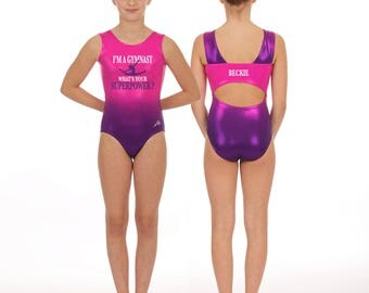 I'm a gymnast what's your superpower / Personalized Ombre Gymnastics leotard