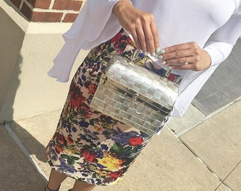 50s Metallic Box Purse