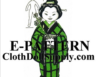 E-Pattern – Miss Japan Cloth Doll Sewing Pattern #EP 7244