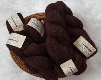 Bulky 100% Peruvian Highland Wool Yarn - Cascade 128 - Rich Cordovan Color