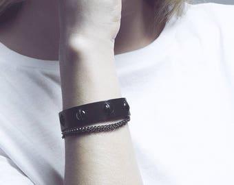 Leather bracelet / BOURGEON