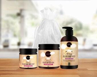 Baby Gift Set, Baby Shower Gift, Organic, Baby Bath Gift Set