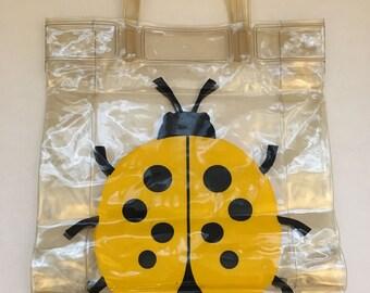 Vintage Transparent Ladybug Bag