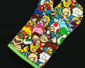 Mario and Nintendo Characters Oven Mitt