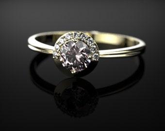 Morganite Engagement Ring Yellow Gold Morganite Ring Yellow Gold Engagement Ring Morganite Ring Morganite Yellow Gold Engagement Ring