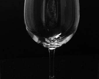 CUSTOM GLASS ~ Personalized wine glass ~ Etched wine glass ~ Create your own glass design ~ Personalized gift ~ Custom etched glass
