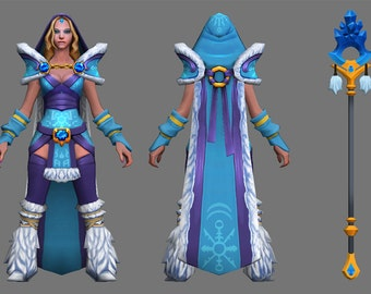 DISCOUNTED PRICE 50% + free shipping ! Dota 2 Crystal Maiden cosplay costume